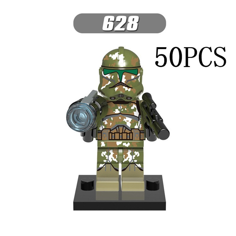 Gifts Star Wars Pogo XINH Wholesales XH628 Commander Karthik 50PCS Building Blocks Bricks Toys Action Figures compatible legoe
