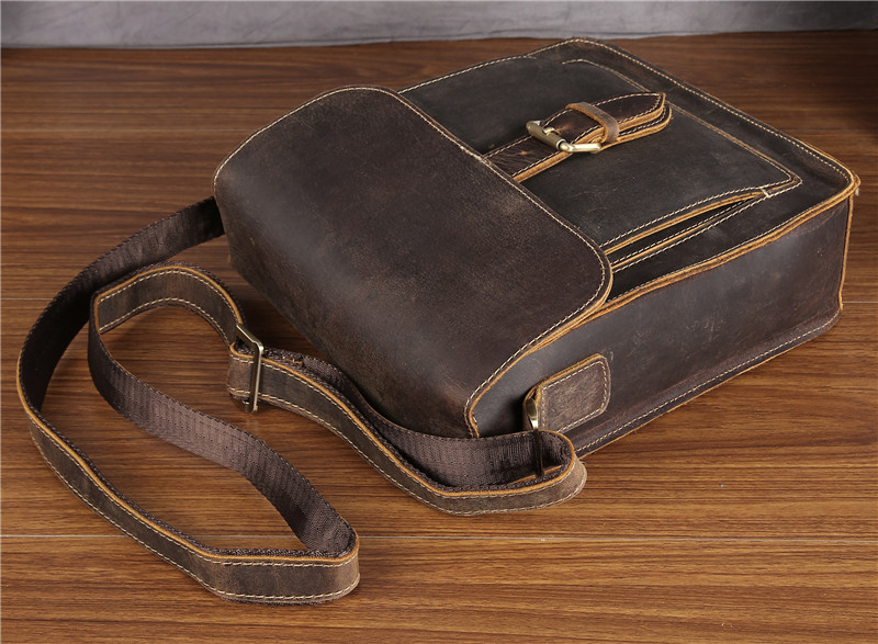 Neweekend 5836 vintage casual couro genuíno cavalo