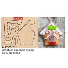 Christmas cottage  cutting dies 2019 die cut & wooden Suitable for common machines on the marke