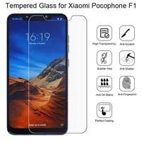2 pezzi di vetro protettivo per Xiaomi Pocophone F1 protezione dello schermo in vetro temperato per Xiaomi Pocophone F1 pellicola per vetro Poco F1