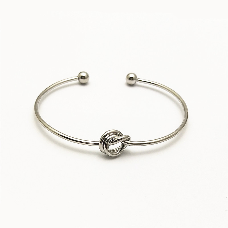 Love Knot Bangle Bracelet Simple