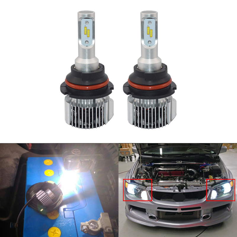 Direct Fit For Mitsubishi Lancer Evolution 2003-2007 High/Low Dual Beam Led Headlight Conversion Kits Replacement Bulbs