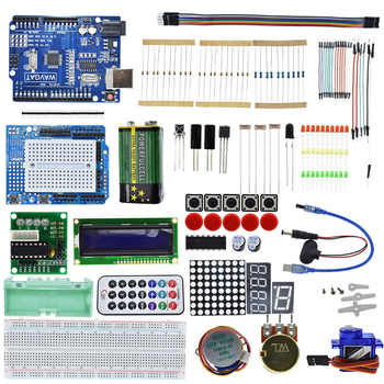 ATMEGA328 Starter kit development board for Arduino UNO R3 Upgraded version Learning 1602 LCD Students must
