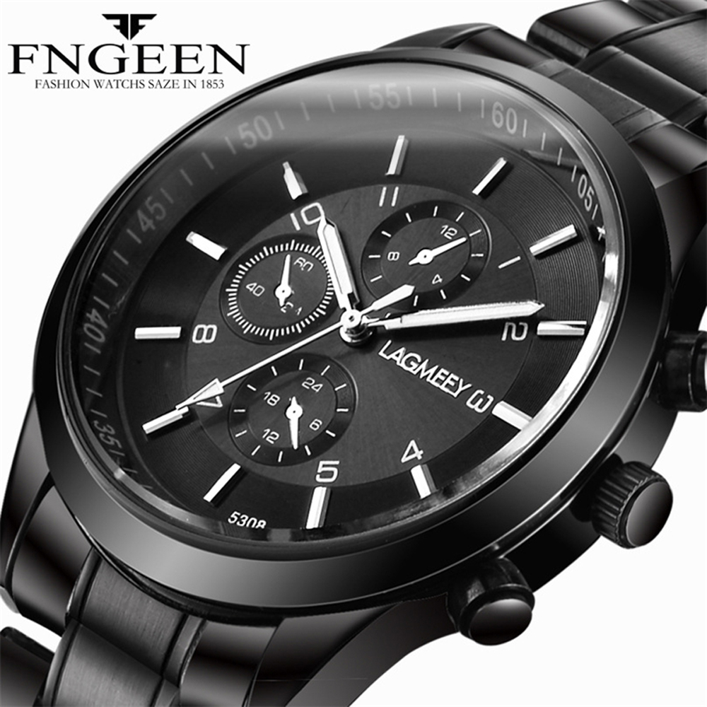 Mens Watch Lagmeey Top Brand Luxury Business Quartz Wrist Watch Men Hodinky Male Clock Time Hour Black Watch Relogio MasculinoMens Watch Lagmeey Top Brand Luxury Business Quartz Wrist Watch Men Hodinky Male Clock Time Hour Black Watch Relogio Masculino