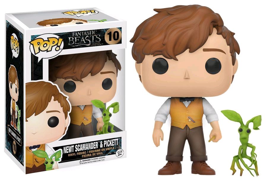 Exclusive Funko pop Official Fantastic Beasts - Newt Scamander & Picket #10 Vinyl Action Figure Collectible Model Toy  funko pop games illidan 14 pvc action figure collectible model toy 4 10cm kt2242