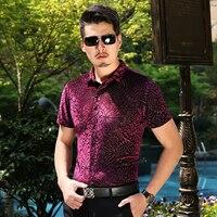 KUYOMENS Men S Shirts Short Sleeve Summer Mens Dress Shirt Male Turndown Collar Slim Fit Camisa