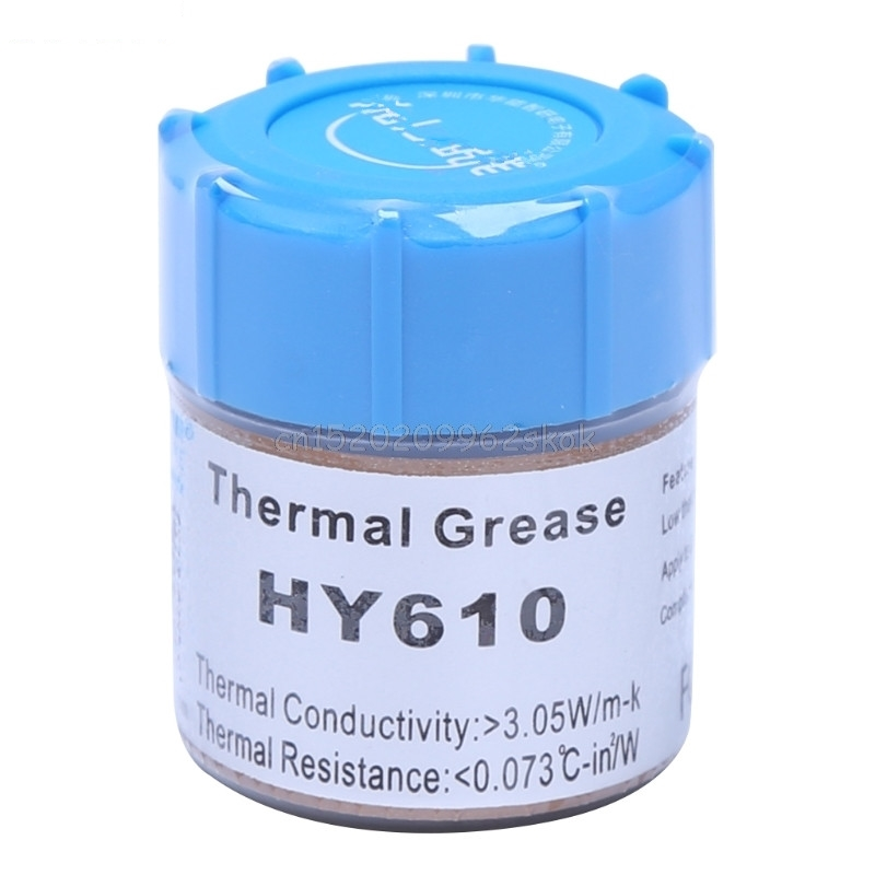 10g HY610-CN10 Thermal Grease Chipset CPU Cooling Compound Silicone Paste 3.05W #H029# hot sale 10g golden thermal grease silicone grease conductive grease paste for cpu gpu chipset cooling compound silicone hy610
