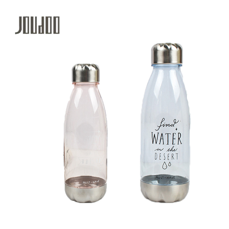 JOUDOO Candy Color Cola Style Water Bottle 560ml Large Capacity Outdoor Sports Plastic Bottles Camping Bicycle Drinkware