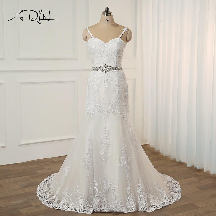 Spaghetti Strap Lace Mermaid Wedding Gowns: Aliexpress.com : Buy ADLN Sexy Lace Mermaid Wedding Dress