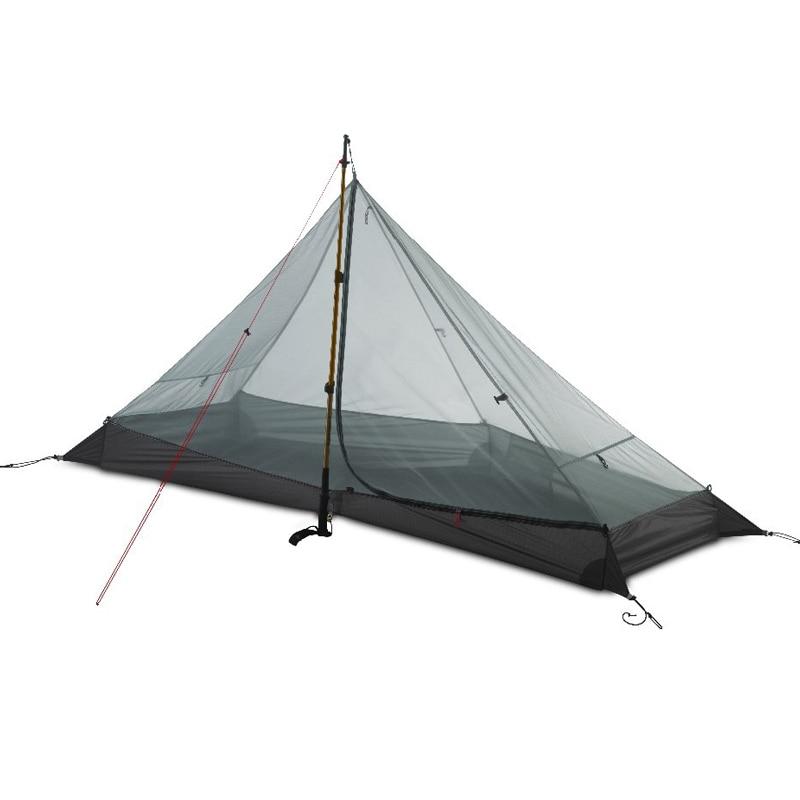 2018 LanShan 1 3F UL GEAR 1 Person Oudoor Ultralight Camping Tent 3 Season Professional 15D Silnylon Rodless Tent2