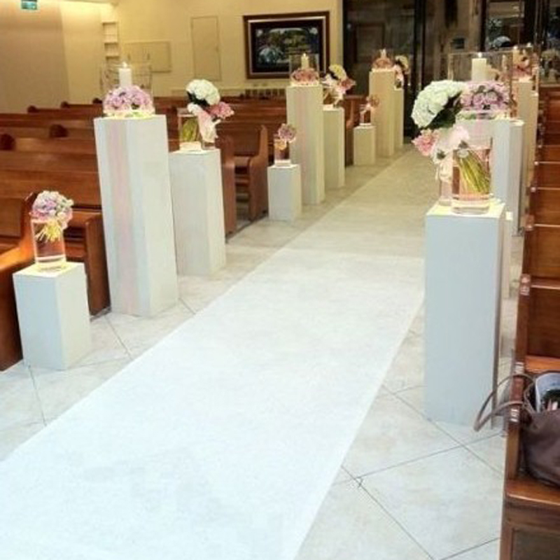 Wedding Party Carpet Decoration Rug Aisle Runner White Nonwoven 0 8m Wide