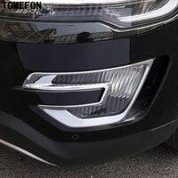 For Ford Explorer Sport 2016 2017 ABS Chrome Front Fog Light Lamp Cover Trim Bezels Decoration Frames Car Accessories 2pcs/set