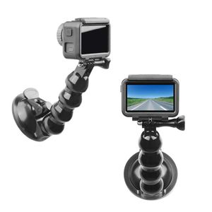 Image 5 - Black Car Bracket Holder Suction Cup Adapter Driving Recorder Ball Head Tripod for DJI Osmo Pocket Action Camera Accessories