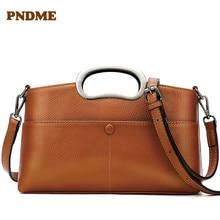 Stylish casual ladies leather cross handbag dinner small square bag retro