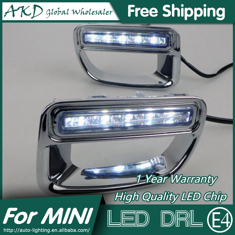 AKD Car Styling LED Fog Lamp for BMW MINI COOPER DRL 2012-2014 LED Daytime Running Light Fog Light Parking Signal Accessories набор приспособлений для обслуживания грм двигателя bmw n12 mini cooper jonnesway al010079