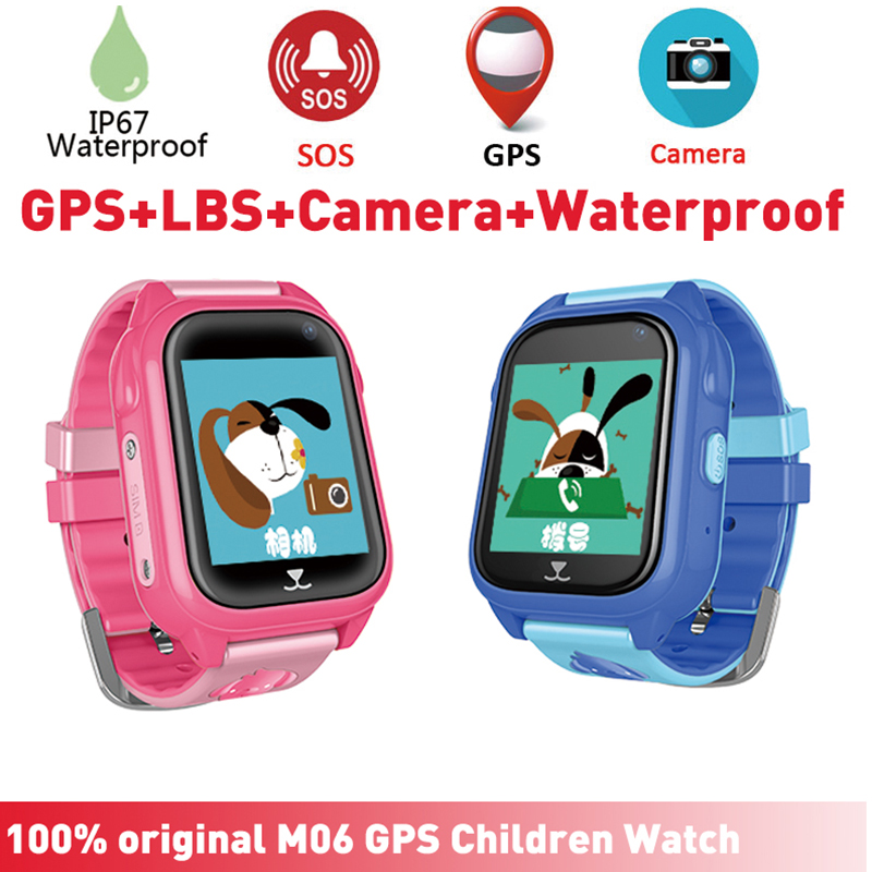 M06 IP67 Waterproof Kids Smart Watch GPS Tracker with Camera SIM Slot SOS Outdoor Smartwatch for Girls Boys for iPhone AndroidM06 IP67 Waterproof Kids Smart Watch GPS Tracker with Camera SIM Slot SOS Outdoor Smartwatch for Girls Boys for iPhone Android
