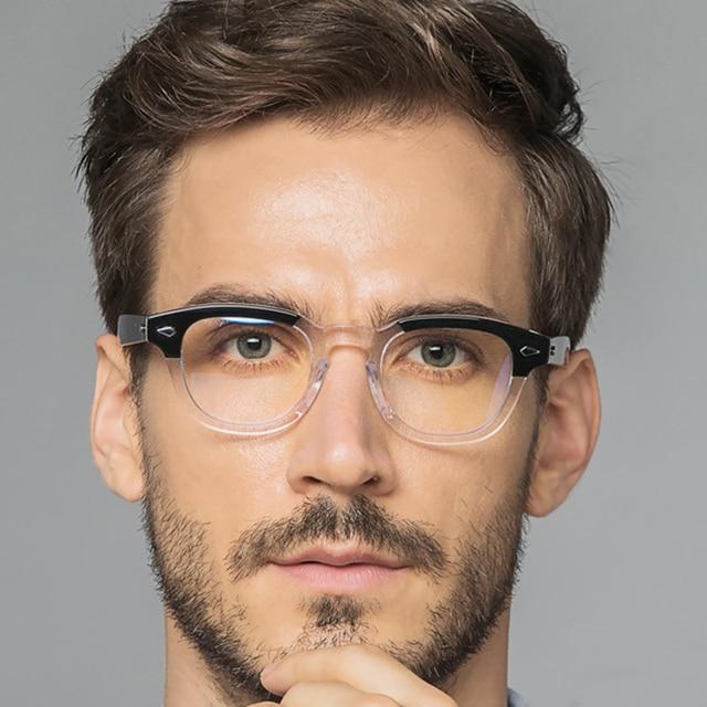 جوني ديب نظارات إطار النظارات البصرية الرجال النساء الكمبيوتر شفافة تصميم العلامة التجارية النظارات خلات خمر Q313 2 الموضة