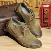 100% Genuine cow suede leather brogue men derby flats shoes handmade vintage casual shoes oxford shoes for men grey brown 2018