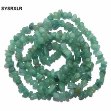 Wholesale 5-8 MM Chips Irregular Shape Natural Green Aventurine Beads Beads For Jewelry Making DIY Bracelet Necklace Strand 34'' цена 2017