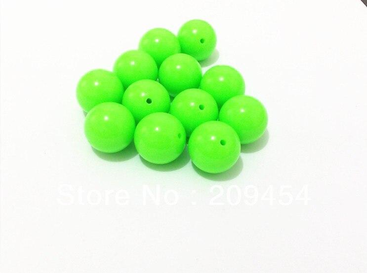 (Выберите Размеры сначала) 6 мм/8 мм/10 мм/12 мм/14 мм/16 мм/18 мм /20 мм светло-зеленый Акриловые Неоновые Твердые Бисер для Коренастый ожерелье