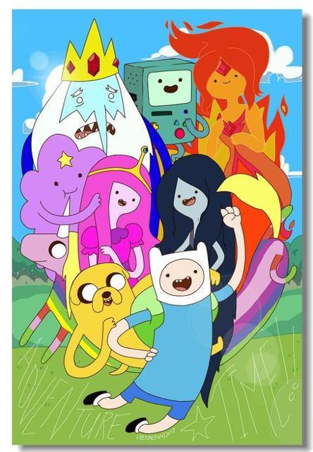 Gratis Kapal Kustom Adventure Time Finn Dan Jake Wallpaper Bergaya