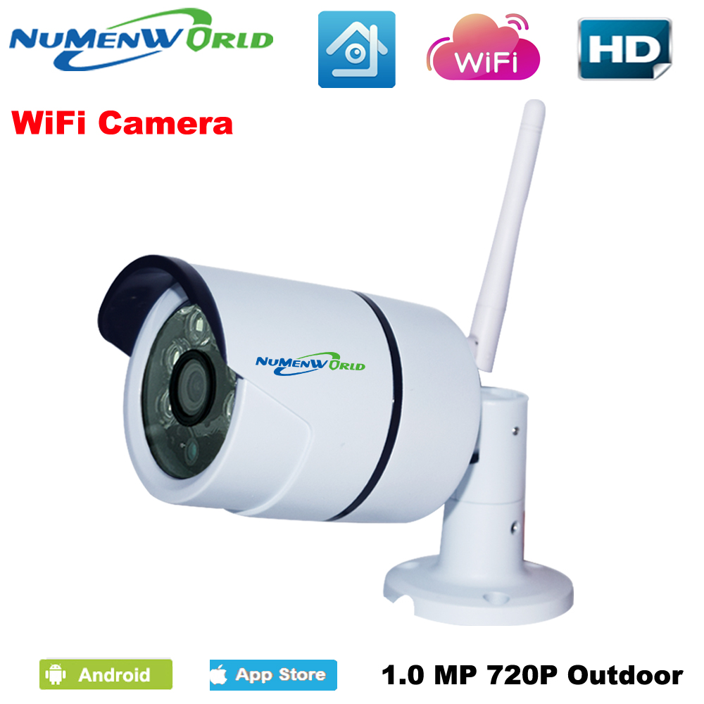 IP Camera WiFi 720P  Wireless Camara Video Surveillance HD IR Night Vision Mini Outdoor Security Camera CCTV System hd bullet outdoor mini waterproof cctv camera 1200tvl ir cut night vision camara video surveillance security camera