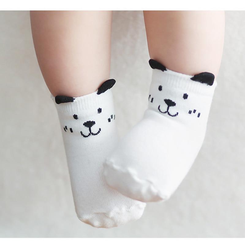 Baby Socks 2016 Toddler Sock Cotton Baby Boy Girl Anti Slip Cute Cartoon Cat Stereo Sock Skid Resistance For Newborns Infantile