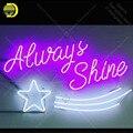 Неоновые световые вывески всегда светят неоновые лампочки вывеска лампа ручной работы пивной бар Пивной дисплей бизнес неоновый Letrero Neons ...