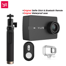 100% Original YI Lite Action Camera Real 4K  Sports Camera Bluetooth 16MP EIS WIFI 2″  Touch LCD Screen 150 Degree Lens -Black