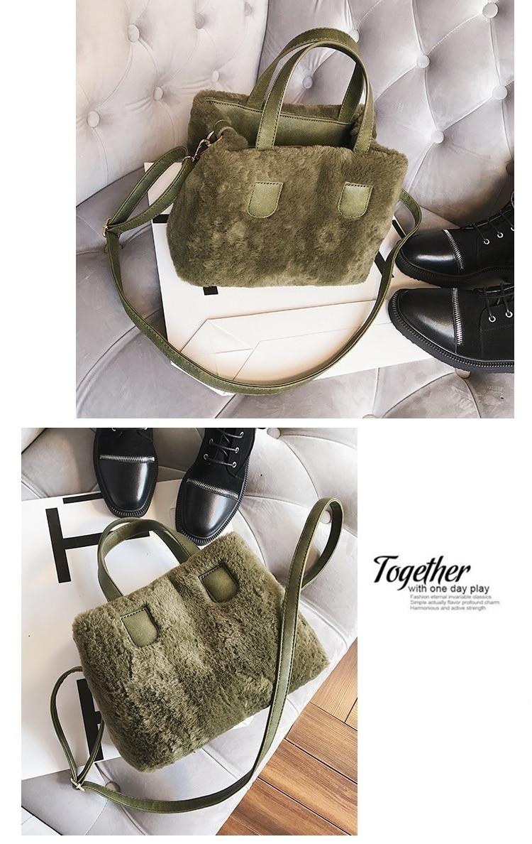 e7105d2a52 Winter Women Faux Fur PU Leather Shoulder Bags Top-Handle Bag Female  Fashion Hairy Designer Handbag Flap Bag Plush Crossbody Bag. 1 2 3 4 5 6 7  8 ...