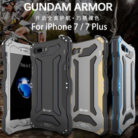 R JUST Life waterproof shockproof Metal Cover Case for Apple IPhone 7 7Plus cover protection shell tempered glass