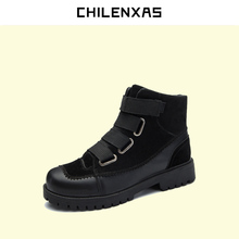 CHILENXAS 2017 New Fashion Winter Leather Shoes Men Casual Height Increasing Solid Breathable Waterproof Light Ankle Boots