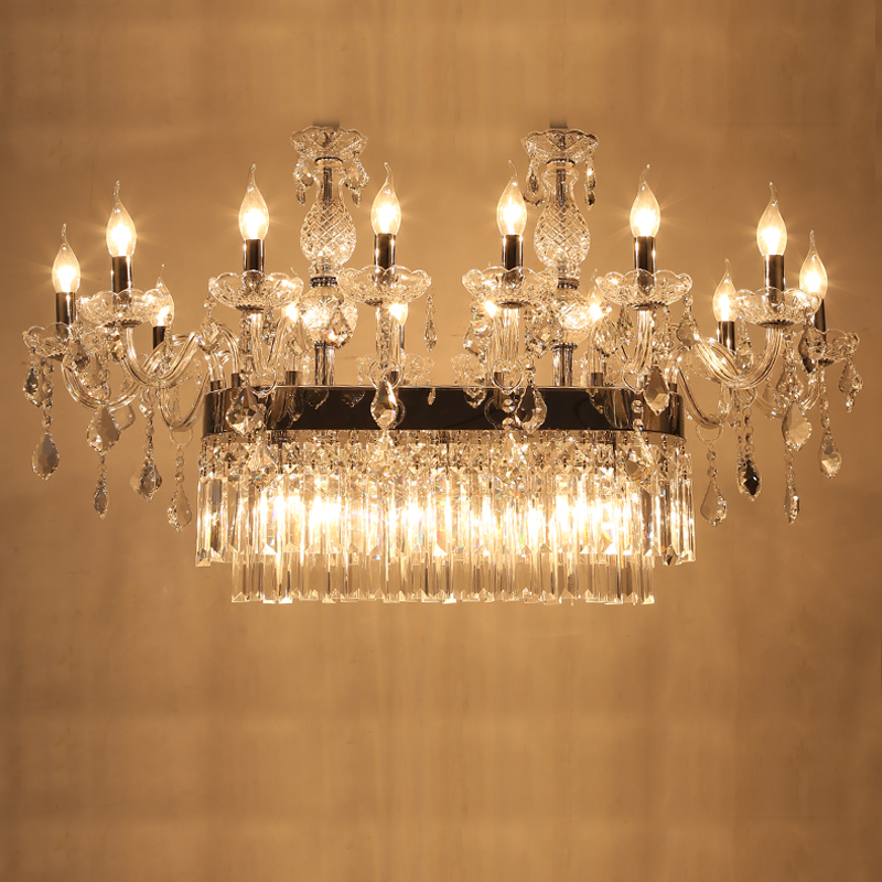 Longree lampe de chambre avant grande taille glands lustre en verre avec bougeoir pour villa centre commercial hall marché décor