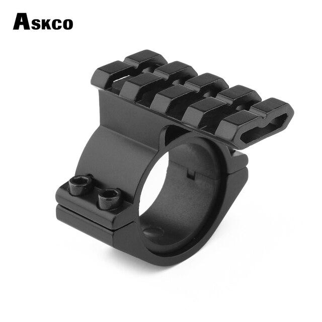 Tube de montage pour lunette de visée Askco 25.4mm adaptateur de bague de portée 30mm 20mm Rail de montage pour tisserand avec Insert de montage 1'