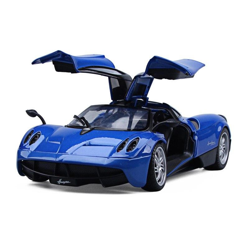 1/24 масштаб Pagani Huayra литья под давлением сплава Модель автомобиля реалистичные гоночных автомобилей модели для детей подарки игрушки коллек...