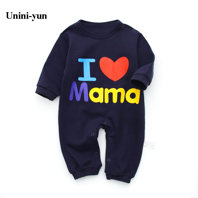 New 2017 fashion baby boy clothes long sleeve baby rompers newborn cotton baby girl clothing jumpsuit infant clothing 3M-24M