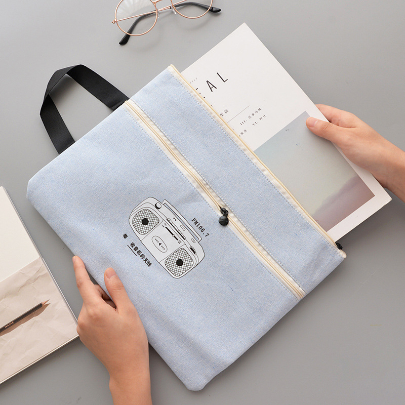 A4 High Quality Soft Fabric File Holder Wholesale Document