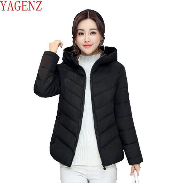 YAGENZ/женское базовое пальто, модная куртка с хлопковой подкладкой большого размера, новое зимнее пальто с хлопковой подкладкой, Han edition, KG696