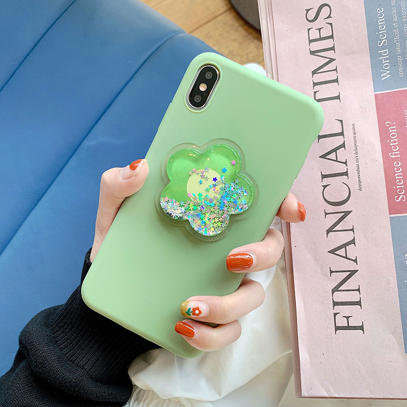 Pohiks Phone Back Cover For iphone 7 8 6 6s plus Dynamic Liquid Flower Soft Case Cover For iPhone XS Max XR X 6 7 8 Plus Fundas in Fitted Cases from Cellphones Telecommunications