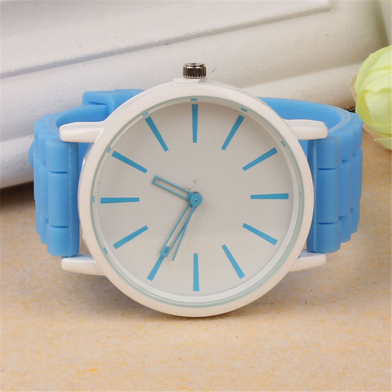 Luxury Women Watch Silicone Rubber Unisex Quartz Analog Sports Women Fashion Wrist Hot Pink For Lovely Girls #4m14 (26)