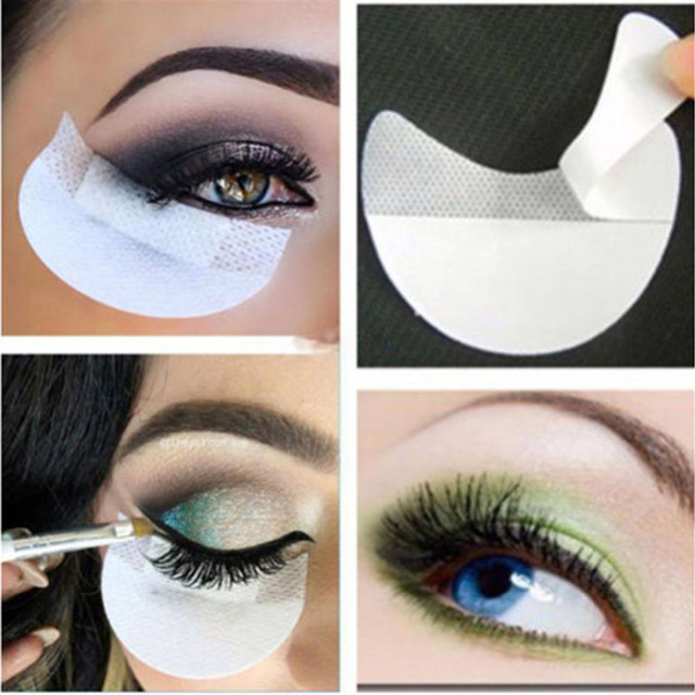 10pcs Pro Cotton Eyeshadow Shields Under Eye Patches Disposable Eyelash Extensions Pads Protect Pad Eyes Lips Makeup Tool 1