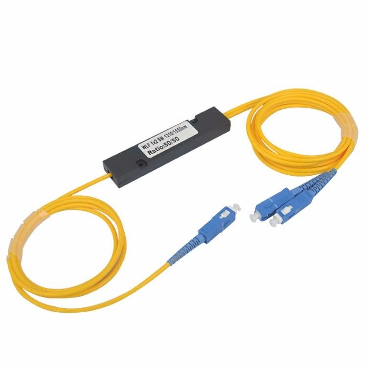 Free Shipping SC/UPC 1x2 PLC Singlemode Splitter Fiber Optic SC Interface Fiber Branching Device