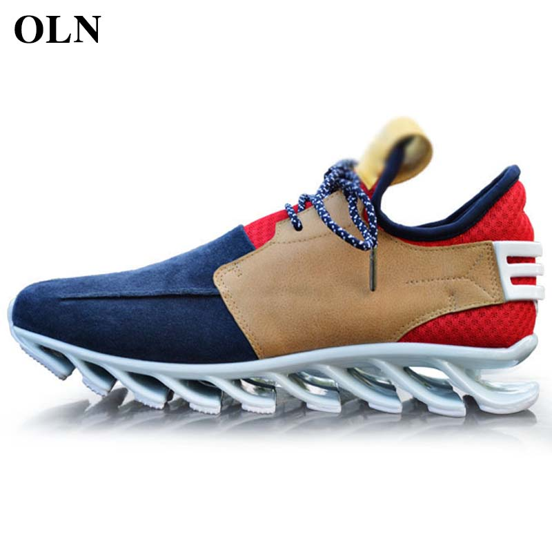 OLN 2018 Man Brand Outdoor Athletic Men Sneakers Comfortably Men Running Shoes Outdoor Jogging Super Light Sport Shoes For