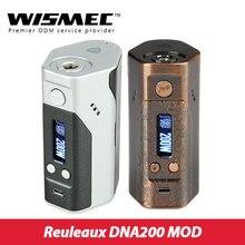 200 Вт Wismec рел DNA200 коробка мод TC/VW режим работает по технологии DNA200 510 нить электронная сигарета vs Rx200s TC мод