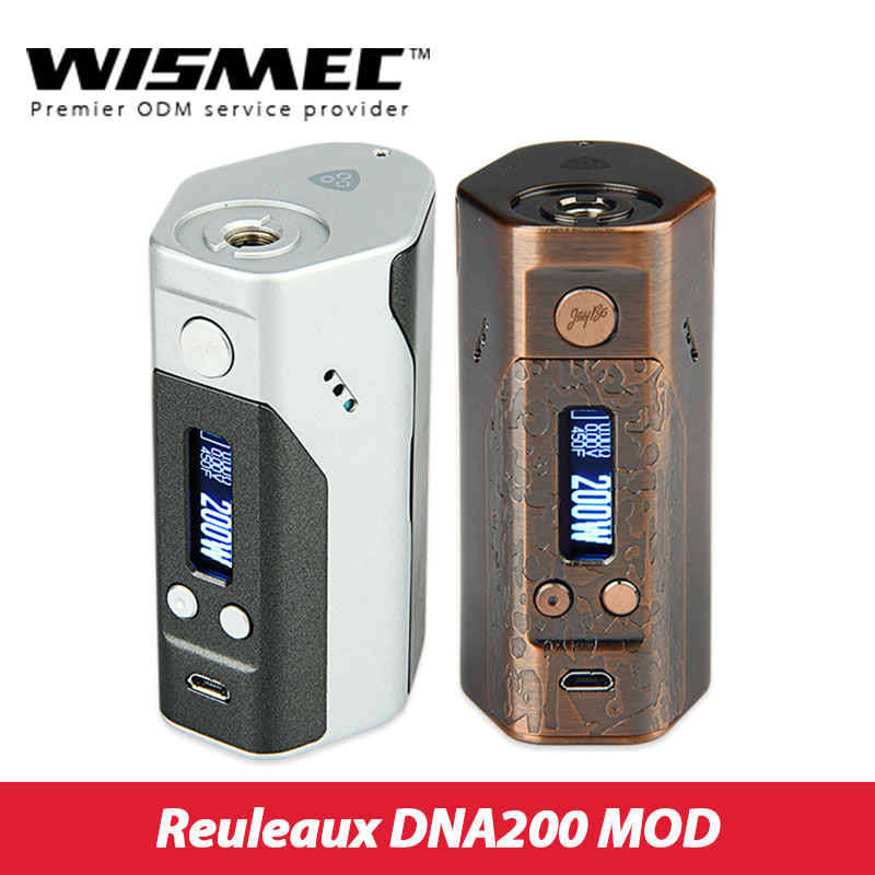 мод dna 200 - Original 200W Wismec Reuleaux DNA200 Box Mod TC/VW mode Powered by DNA200 Technology 510 thread E Cigarette vs Rx200s TC Mod