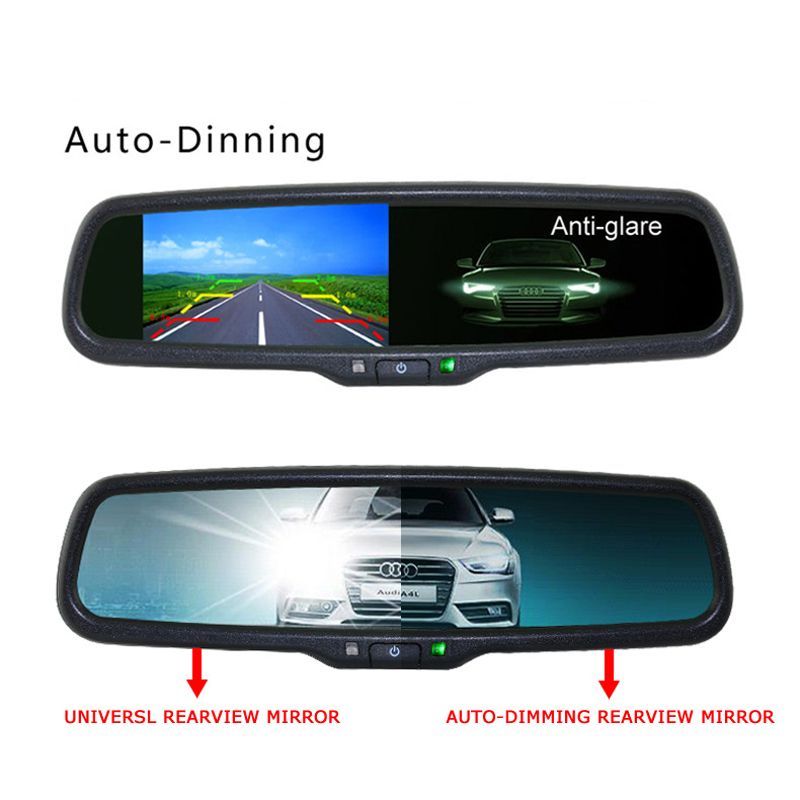 1000CD M2 Monitor Electronic Auto Dimming Special Bracket Car Rear View Rearview Mirror Monitor 4 3