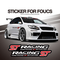 50 70 90cm ST Racing FOUST Side Body Windshield Hellaflush Car Styling Reflective Vinyl Sticker Exterior