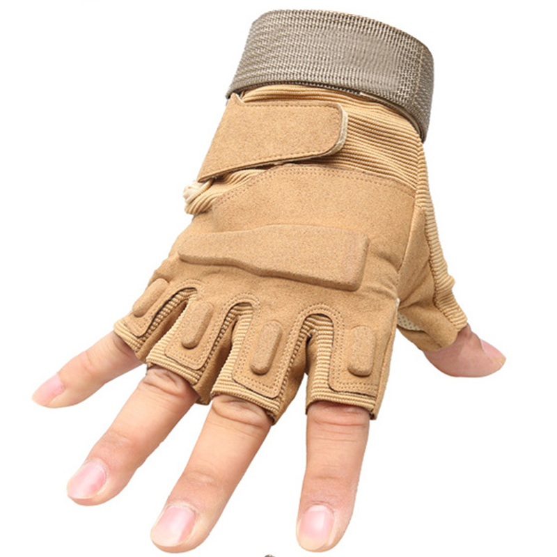 Tactical Military Gloves Men Army SWAT Gear Combat Paintball Half Finger Gloves Outdoor Sports Hiking Hunting Black Gloves