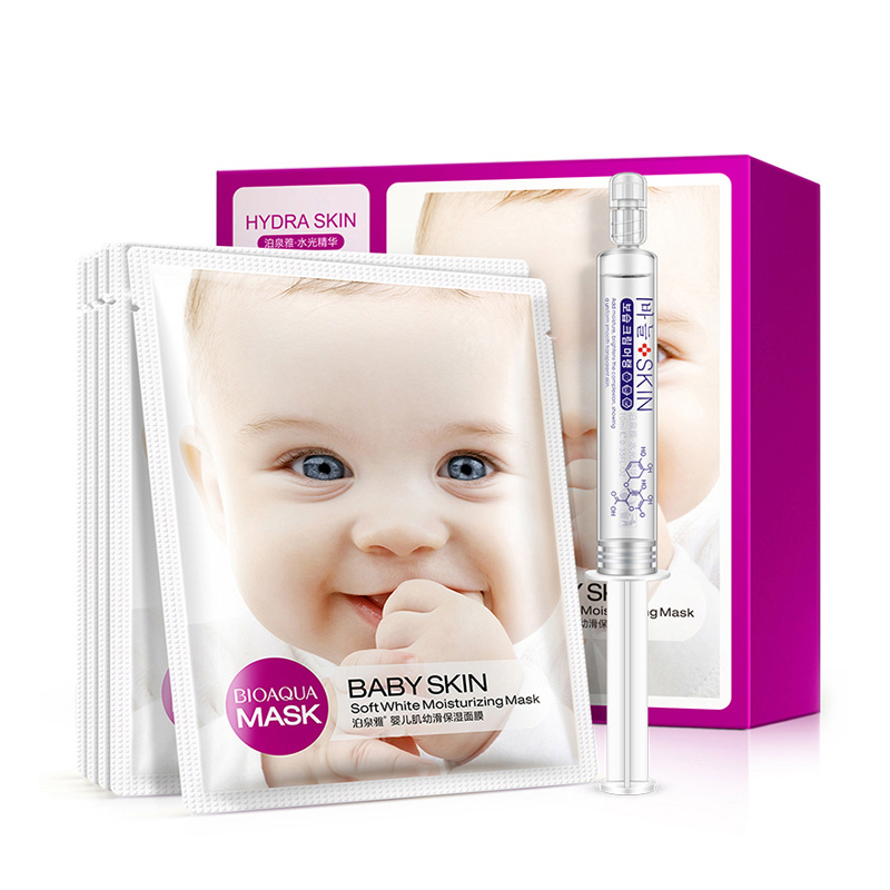 BIOAQUA masks face + hydrating moist essence beauty whitening skin care soft moisturizing 3D facial mask sheets sleeping nourish