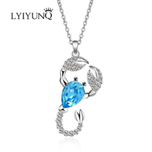 Buy scorpio pendants and get free shipping on aliexpress lyiyunq fashion scorpio pendant necklace trendy super shiny crystal necklaces pendants for women classic girl mozeypictures Images